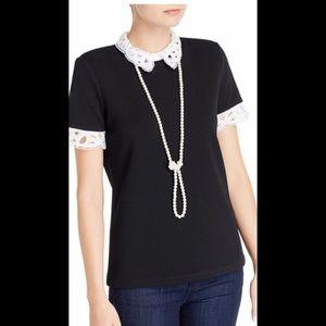 New Karl Lagerfeld Paris lace collar top